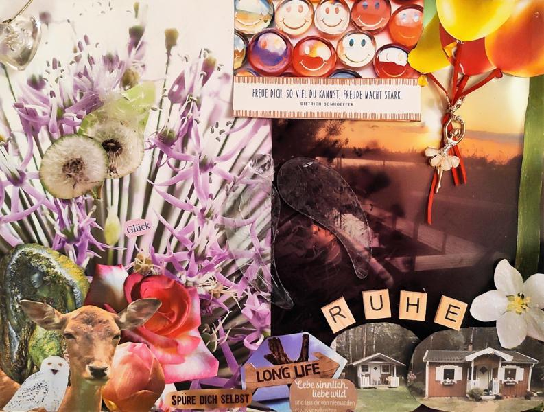 Seele-Collage-Ruhe